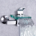 New Arrival Single Handle Glass Waterfall Cold and Hot Shower Faucet