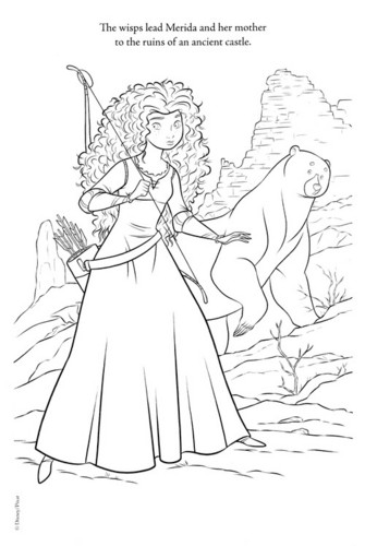 New Merida - Legende der Highlands Coloring Pages (spoiler)