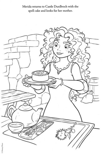 New Merida - Legende der Highlands coloring page (A bit spoiler)