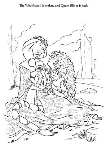New Merida - Legende der Highlands coloring pages (A bit spoiler)