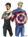 New Shield - steve-and-tony fan art