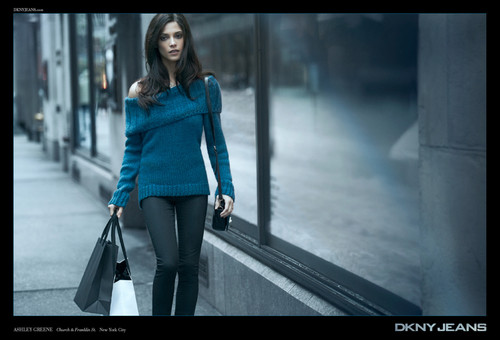애슐리 그린 바탕화면 probably with a hip boot and a well dressed person titled New advertisements for DKNY Jeans Fall 2012 campaign .
