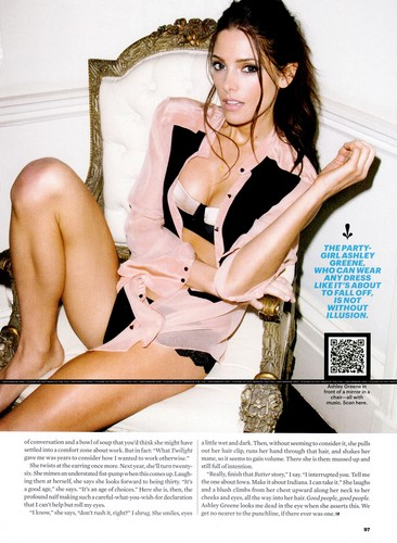 New scans featuring Ashley  from Esquire USA August 2012.