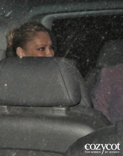 """Nick Jonas and Kym Johnson (DWTS) after seeing """"Singing in the rain"""" together in London, England"""