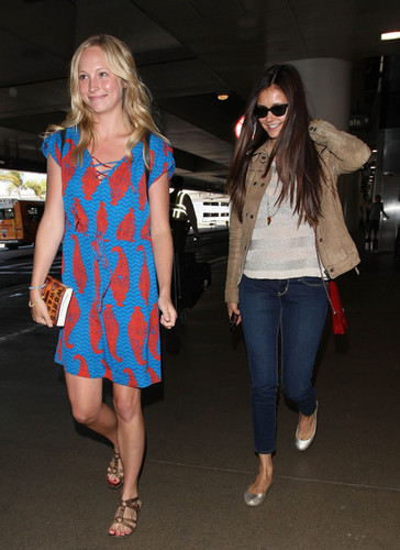 Nina with Candice In LA