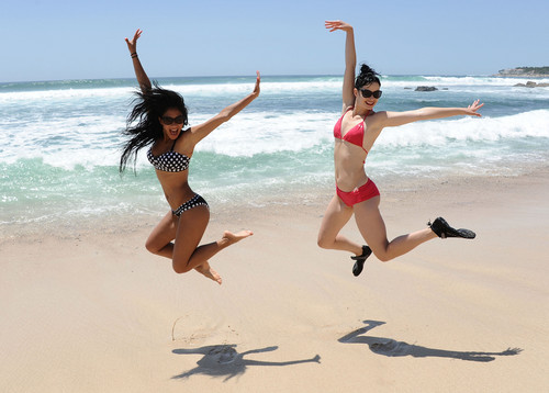Nicole Scherzinger wallpaper possibly containing a bikini called Oakley Learn To Ride Surf Event In Mexico [5 July 2012]
