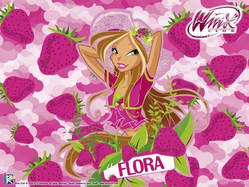 Official kertas dinding 2012 Flora Frutty