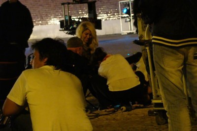 On the set in Lisbon [June 30]  - shakira Photo