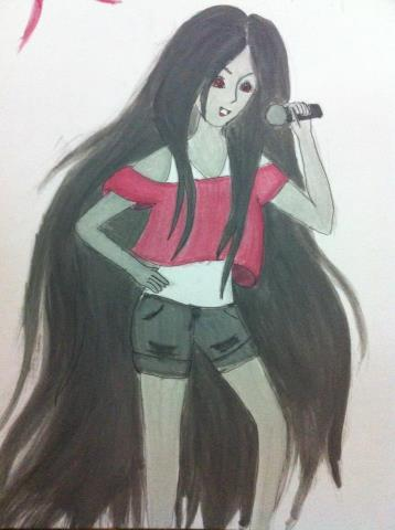 Painting of Marceline The Vampire queen