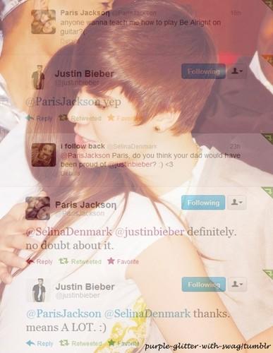 Paris Jackson and Justin Bieber ♥
