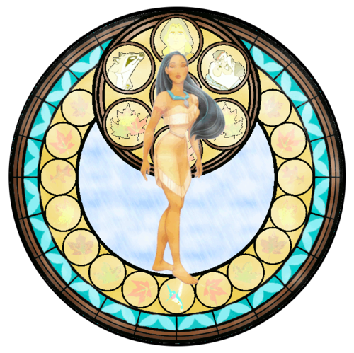Pocahontas Stained Glass