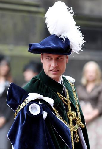 Prince William at Order of the cardo, thistle