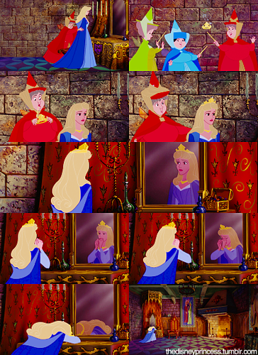 Princess Aurora: A crown to wear in grace and beauty, as is thy right, and royal duty…