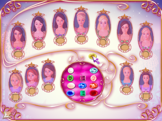 Barbie in the 12 Dancing Princesses Princesses' still from the game