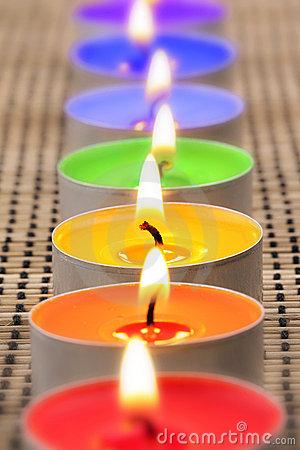 arc en ciel Candles