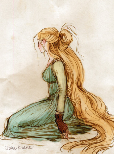 Rapunzel concept arts made द्वारा Claire Keane