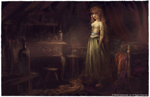 Rapunzel concept arts made door Claire Keane