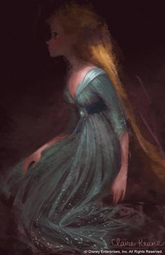 Rapunzel concept arts made kwa Claire Keane