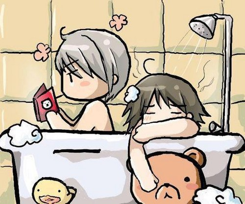 Reading in bathroom^^