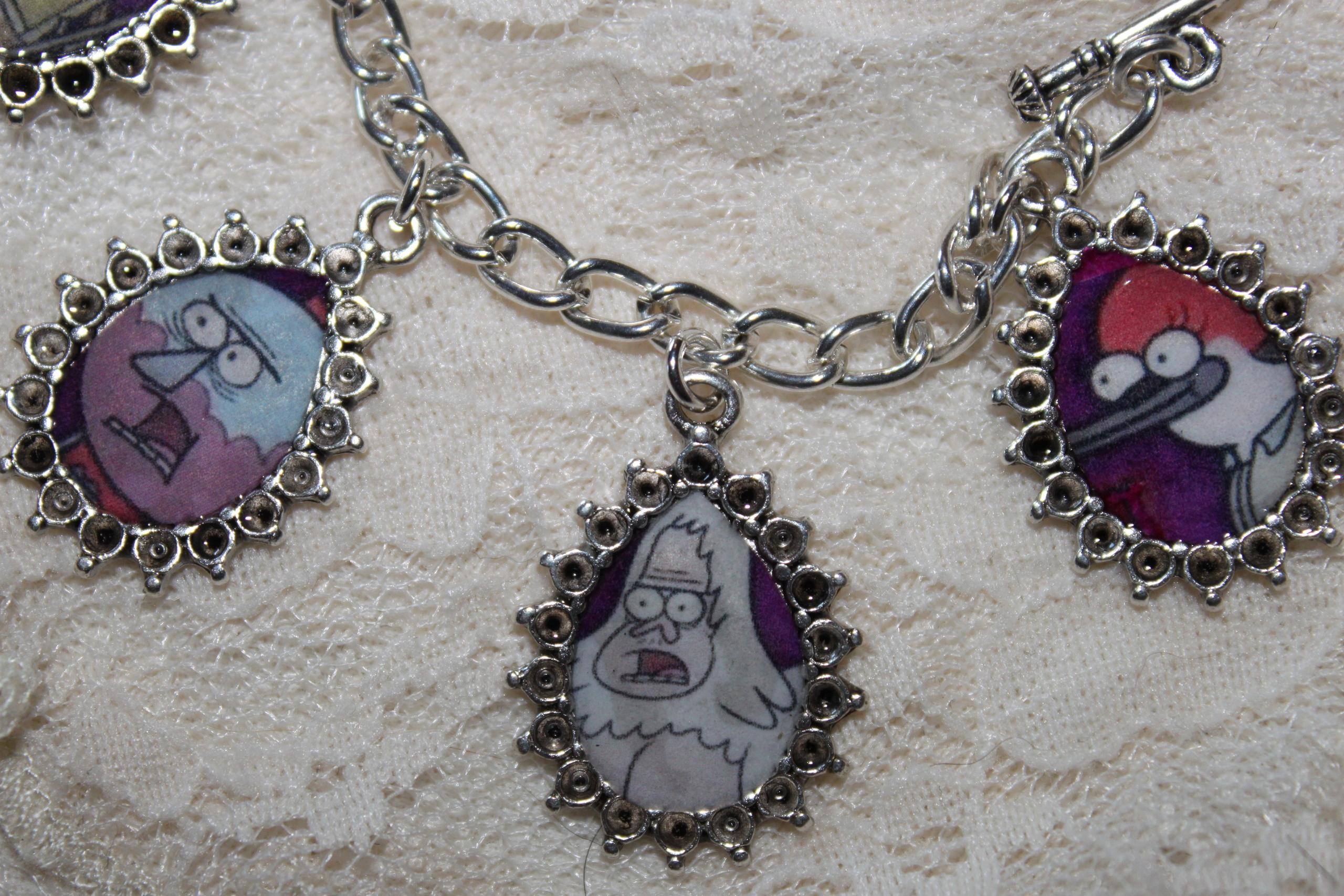 Regular Show charm bracelet