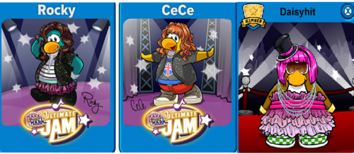 Rocky and Cece on club penguin! plus daisyhit