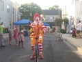 Ronald McDonald at First Fridays in Ambler