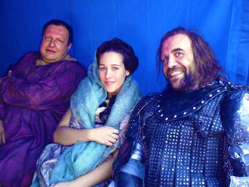 Rory McCann- Game of Thrones- Season 2- BTS foto
