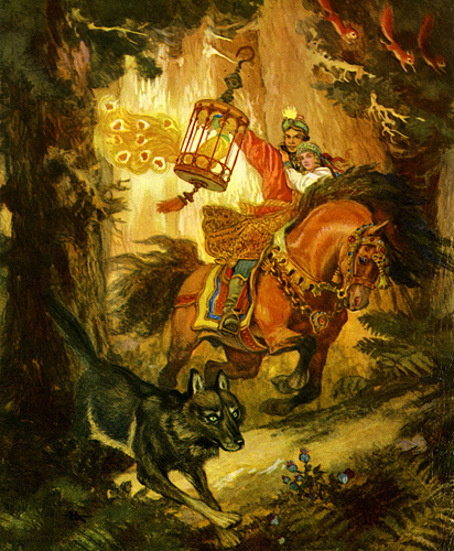 Fairy Tales & Fables karatasi la kupamba ukuta probably containing a horse trail, a lippizan, and a mitaani, mtaa called Russian Fairy Tales