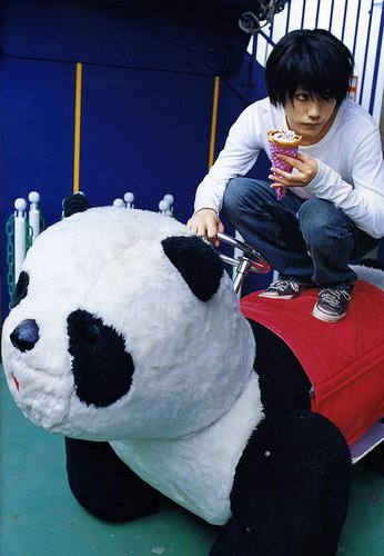 L images Ryuzaki and Panda wallpaper and background photos
