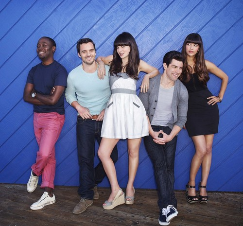 New Girl Hintergrund possibly with bare legs, a hip boot, and a playsuit, spielanzug titled Season 2 Promos