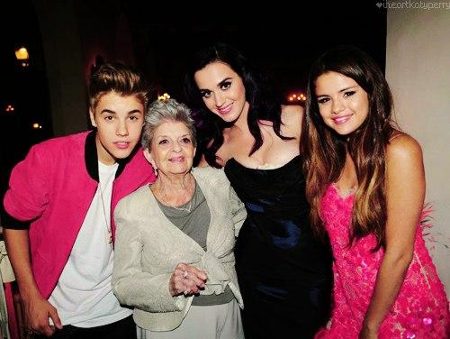 Sel, Justin, Katy and her grandma