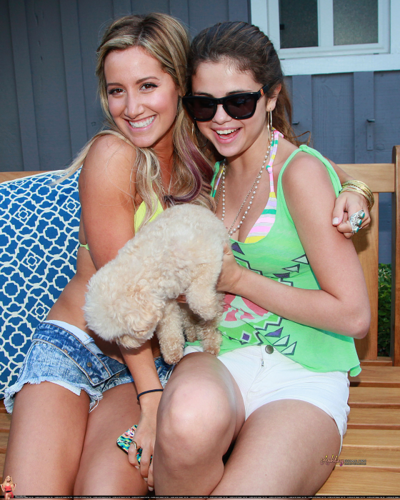 Selena - Inside Ashley Tisdale's 27th Birthday Party - July 02, 2012
