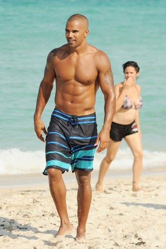 Shemar Moore Enjoys the Sun In Miami