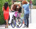 Shemar Moore On His Bike In Miami - shemar-moore photo