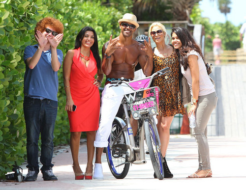 Shemar Moore On His Bike In Miami
