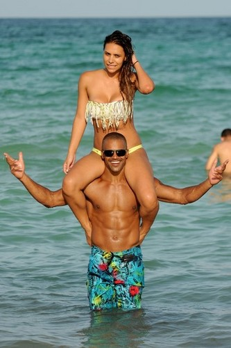Shemar Moore on the beach