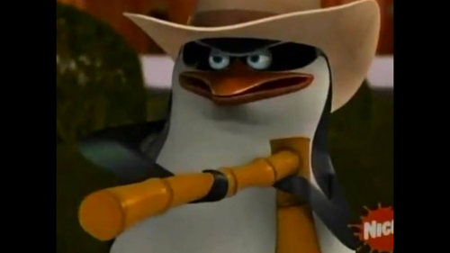 Skipper the cowboy penguin xD