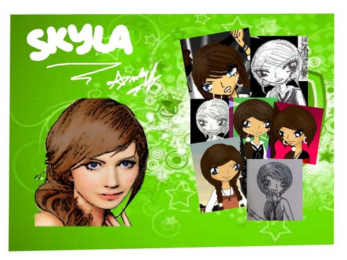 Skyla: Small Collage... and LIVE ACTION!!!