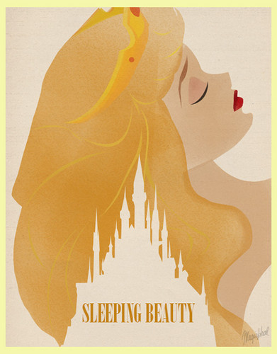 Sleeping Beauty Minimalist Poster