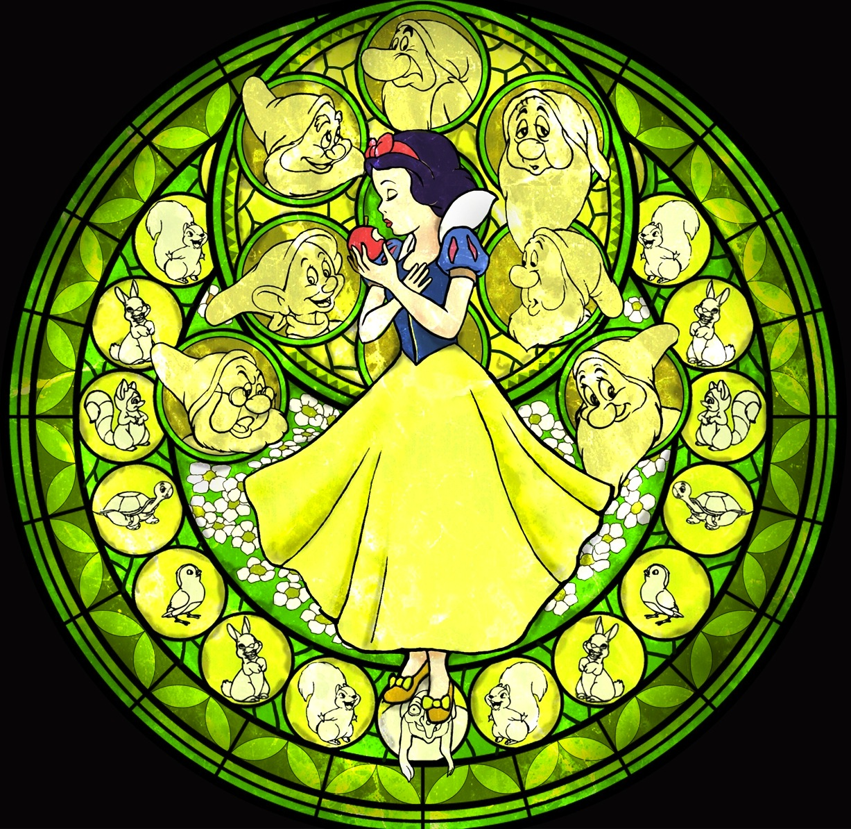 disney princess images snow white stained glass hd. Black Bedroom Furniture Sets. Home Design Ideas