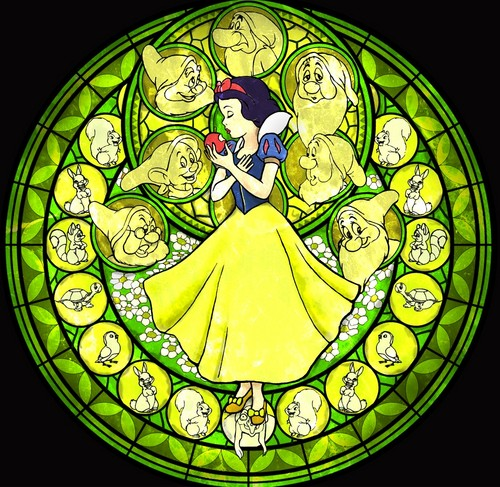 Snow White Stained Glass