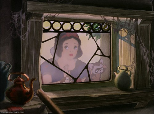 Snow White and the Seven Dwarfs wallpaper containing a stained glass window entitled Snow White and the Seven Dwarfs Screencaps