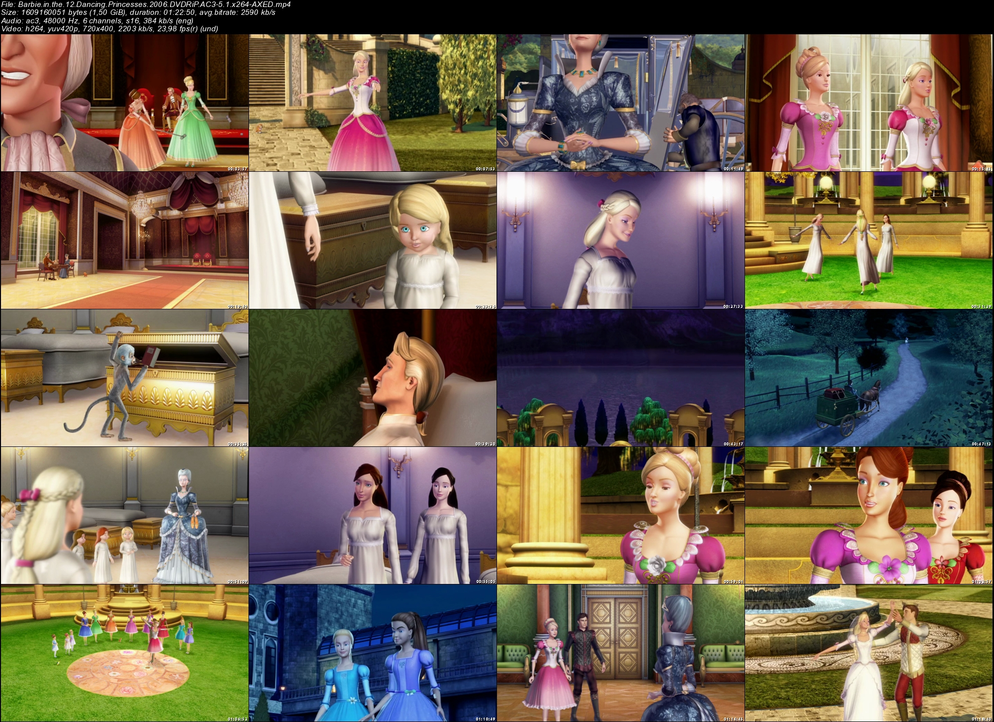Some Screencap Collages Barbie In The 12 Dancing Princesses
