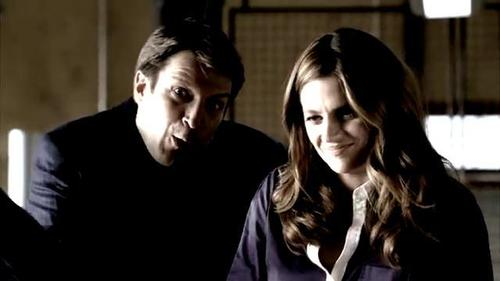 Nathan Fillion & Stana Katic karatasi la kupamba ukuta with a portrait titled Stana and Nathan
