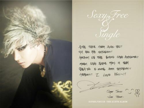 "Super Junior Sexy, Free & Single"" Booklet"
