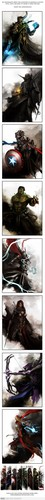 The Avengers Medieval Style