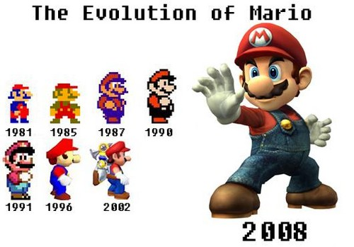 The Evolution of Mario - super-mario-bros Fan Art