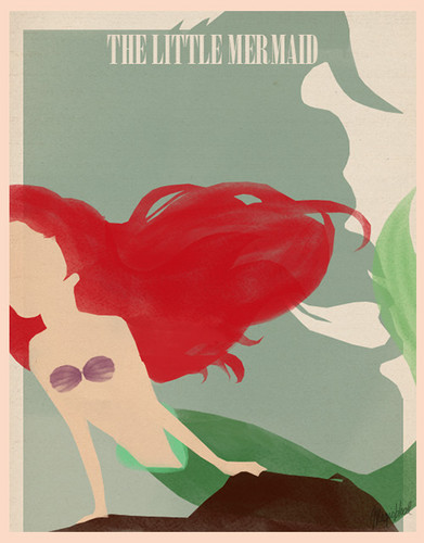 The Little Mermaid Minimalist Poster - disney-princess Photo