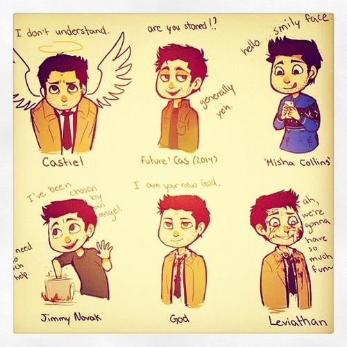 The many faces of Castiel