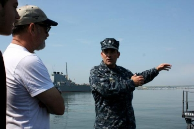 Tom Hanks at the Naval Station Norfolk